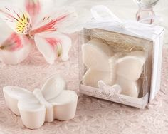 "Wedding Favors & Party Supplies - Favors and Flowers :: Wedding Favor Themes :: Bath and Soap Wedding Favors :: ""Butterfly Kisses"" Lightly Scented Butterfly Soap Soap Wedding Favors, Wedding Favors For Guests, Unique Wedding Favors, Bridal Shower Favors, Trendy Wedding, Wedding Ideas, Baby Favors, Party Favours, Wedding Crafts"