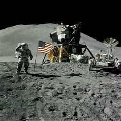Apollo 15 astronauts deploy first lunar roving vehicle - July 31, 1971