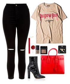 """""""Purpose Tour Vibes"""" by owl00 ❤ liked on Polyvore featuring Justin Bieber, New Look, Gianvito Rossi, Yves Saint Laurent, Chanael K, Disney, NARS Cosmetics and Topshop"""