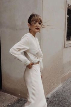 All white summer outfit ideas #minimal #allwhite