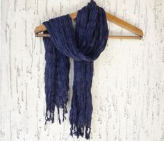 Handwoven infinity scarf Black Scarves by OttomanBazaars on Etsy, $24.00