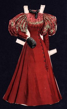 Cut Sunday Herald Paper Doll Dress* For lots of free paper dolls International Paper Doll Society #ArielleGabriel #ArtrA thanks to Pinterest paper doll collectors for sharing *