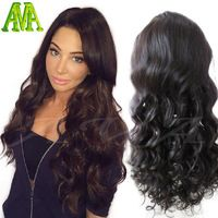 100% Unprocessed Brazilian Virgin Body Wave Human Hair Front Lace Wigs Glueless Full Lace Wig With Baby Hair For Black Women