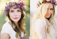 O Lado de Cá: Como fazer: coroa de flores para o cabelo