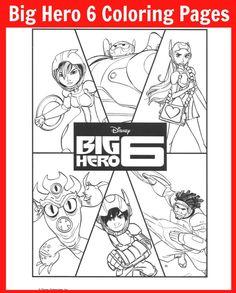 Big Hero 6 Coloring Sheets