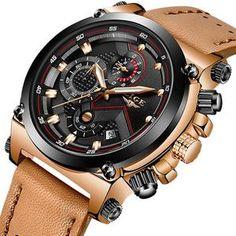 3ea3e1c2de2 LIGE Men Watch Male Leather Automatic date Quartz Watches Mens Luxury Brand  Waterproof Sport Clock Relogio Masculino