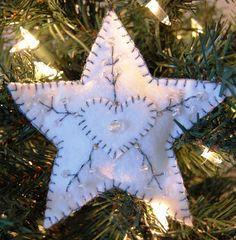 embroidered felt star