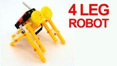 4 Leg Walking Robot | How To Make 4 Leg Robot | Make Mini Robot | 4 கால்... Robot, Electric, Walking, Legs, Mini, How To Make, Walks, Robots, Bridge