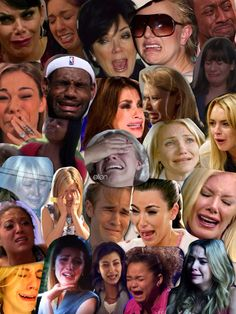 You think mouths and feelings on pinterest - Kim kardashian crying collage ...