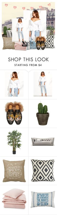 """""""contest shein"""" by favorite22 ❤ liked on Polyvore featuring WithChic, Gucci, John Lewis and Lexington"""