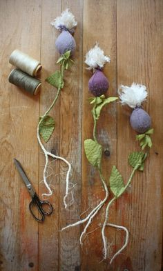 hand stitched seedpods