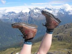 Hayley Dargue Jones' 11 year old brasher boots half-way round the World...and still going strong!!