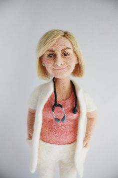 Personalized needle felted doll / Free shipping von FforFelt, $230.00