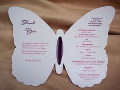Erflies Are The Symbol Of New Beginnings And How Ing As A For Weddings This Bride Wanted Program In Shape Erfly That Opened
