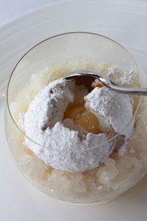 Chef Peter Gilmore's famous Snow Egg at Quay's Restaurant, Sydney, Australia.