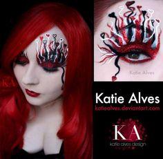 Valentine's Day Eye Art by Katie Alves