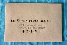 Hand Printed Envelopes By Inkybug On Etsy  I Like This Idea For