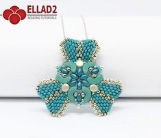 New beading project with Arcos, Pellet and Superduo beads.Beading Tutorial for Arcos Triangle Pendant is very detailed, easy to follow, step by step.