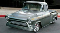 1957 Chevy pick-up 1 Lifted Chevy Trucks, Hot Rod Trucks, Chevrolet Trucks, Gmc Trucks, Cool Trucks, Cool Cars, Chevrolet Apache, Diesel Trucks, Lowrider Trucks