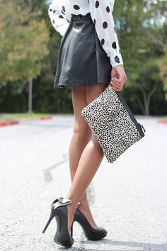 polka dots & leather