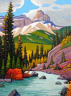 A collection of Paintings by Canadian Painter Nicholas Bott. A collection of Paintings by Canadian Painter Nicholas Bott. Watercolor Landscape, Abstract Landscape, Landscape Paintings, Watercolor Art, Canadian Painters, Canadian Artists, Mountain Art, Mountain Landscape, Guache