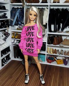 I love pink Barbie Life, Barbie Dream, Barbie World, Barbie Tumblr, Accessoires Barbie, Barbie Fashionista Dolls, Doll Clothes Barbie, Barbie Stuff, Barbie Diorama