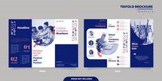 Corporate trifold brochure design Premiu... | Premium Vector #Freepik #vector #brochure Company Brochure Design, Graphic Design Brochure, Corporate Brochure Design, Brochure Layout, Business Brochure, Brochure Template, Creative Brochure Design, Pamphlet Design, Leaflet Design