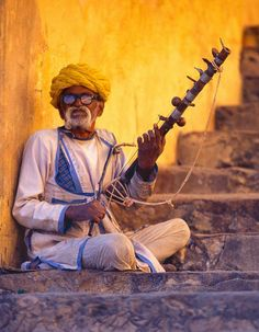 Indian Musician Photo by Cezary Filew -- National Geographic Your Shot