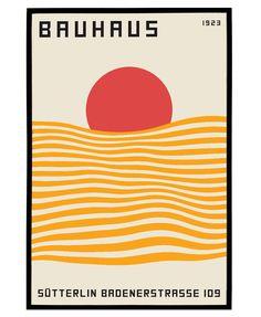 Bauhaus Art, Bauhaus Design, Geometric Poster, Geometric Art, Art Nouveau Poster, Shape Posters, Abstract Drawings, Mid Century Art, Exhibition Poster