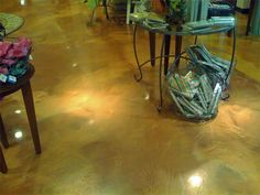 Shimmering effects of metallic epoxy floors
