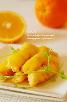 黄金橙汁鱼柳的做法(春节年菜)