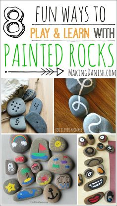 8 fun and educational activities with painted rocks