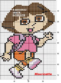 Dora hama perler pattern by mauricette