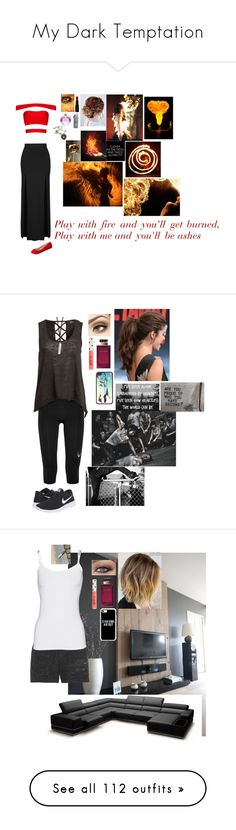 """""""My Dark Temptation"""" by misswinters ❤ liked on Polyvore featuring Topshop, Charlotte Russe, Smashbox, Vera Wang, Lacoste, Lucas Hugh, MINKPINK, NIKE, Dolce&Gabbana and Samsung"""