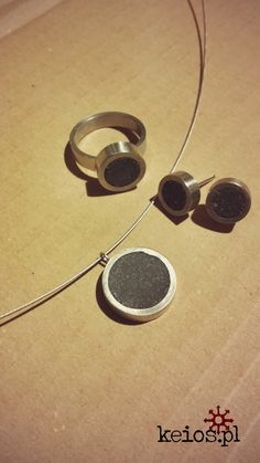 Concrete and steel jewellery from keios.pl