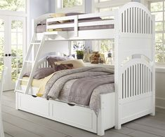 Luxury White Bunk Beds with Trundle and Mattresses Check more at http://dust-war.com/white-bunk-beds-with-trundle-and-mattresses/