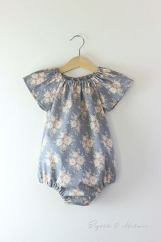 Baby Girls Tilda Flower Playsuit Romper...*Made to Order*... Size Newborn - 2Y Summer Beach Home coming outfit