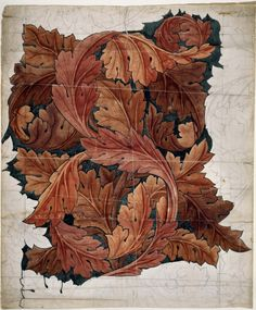 William Morris (24 March 1834 – 3 October 1896) was an English textile designer, poet, novelist, translator, and socialist activist.  Water color and pencil on paper Birmingham Museum and Art Gallery