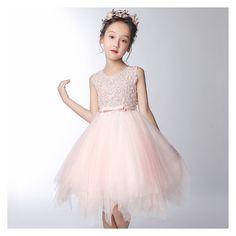 Abito cerimonia bimba damigella rosa grigio perla 100-160cm c46a91d112a