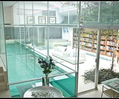 A library and a swimming pool...