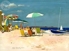 hawks nest beach old lyme connecticut | Learn More about our museum quality giclée watercolor prints. Please ...
