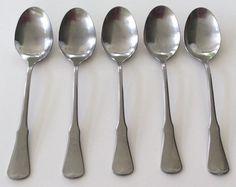 Oneida Patrick Henry Soup Spoons Oval Community Stainless Steel Satin Set Of 5 #Oneida