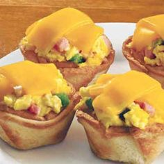 Ham and Cheese Toast Cups