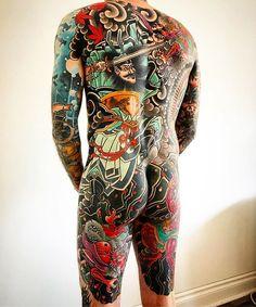 Japanese back tattoo by Lucas Ford. Asian Tattoos, Face Tattoos, Finger Tattoos, Koi Dragon Tattoo, Japanese Back Tattoo, Beautiful Back Tattoos, Tatoo Styles, Traditional Japanese Tattoos, Japanese Style