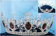Rhinestone Men's Imperial Celtic Purple Jewelled Silver Crown