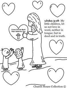Jesus loves the little children activity sheet for kids