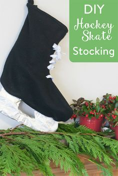 If you've got a hockey fan in your midst, this one is for you! Try our DIY Hockey Stocking to have your fan cheering with joy.