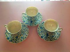 Vintage Tea Set Candles on Etsy, $6.00