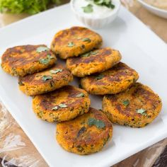Sweet Potato Cakes - soft in the middle, and crispy YUM on the outside