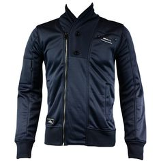 Jack   Jones Lang Mens Sweat Cardigan in Black Navy - official sponsors of  the 6f1890b6cd28
